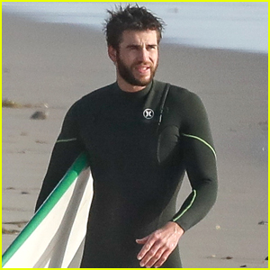 Liam Hemsworth Spends the Afternoon Surfing in Malibu!