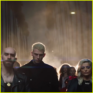 machine gun kelly bebe rexha x ambassadors drop home music rh justjared com