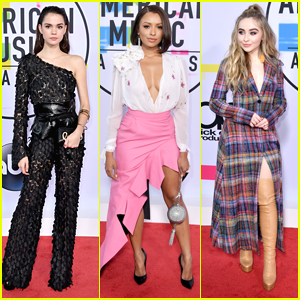 Maia Mitchell, Kat Graham & Sabrina Carpenter Slay The Red Carpet at AMAs 2017