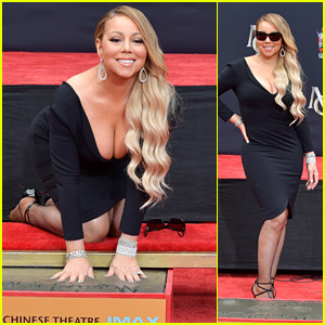 Mariah Carey Is Immortalized With Hand & Footprint Ceremony at TCL Chinese Theatre!