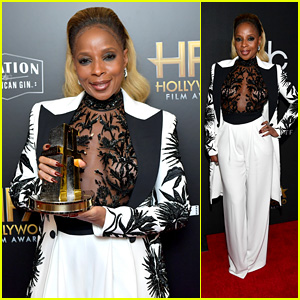 Mary J. Blige Receives Breakout Performance Actress Award at Hollywood Film Awards 2017!