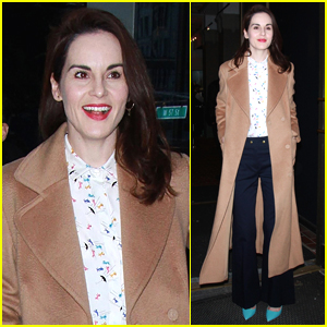 Michelle Dockery Check Out the 'Downton Abbey' Exhibition in NYC