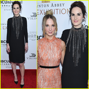 Michelle Dockery & 'Downton Abbey' Cast Reunite For Exhibition Opening!