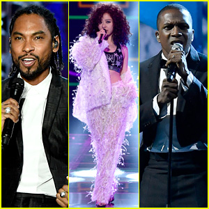 Miguel, Jane Zhang, & Leslie Odom Jr Perform at Victoria's Secret Fashion Show 2017