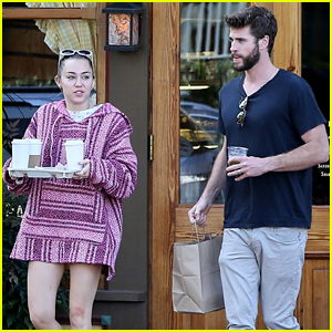 Miley Cyrus & Liam Hemsworth Couple Up for Coffee Date