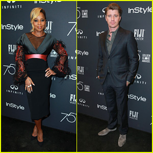 Mudbound's Mary J. Blige & Garrett Hedlund Get Glam for InStyle's Golden Globes 2018 Event