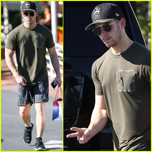 Nick Jonas Gets Some Black Friday Shopping Done in LA!