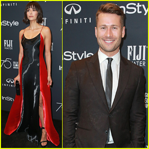 Nina Dobrev & Boyfriend Glen Powell Couple Up for InStyle's Golden Globes 2018 Celebration