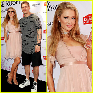 Paris Hilton's Boyfriend Chris Zylka Joins Her at Fragrance Launch!