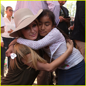 Paris Hilton Visits Mexico City to Donate Items & Help Rebuild Homes for Earthquake Survivors!