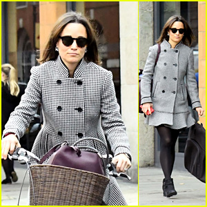 Pippa Middleton Goes for a Bike Ride in London!