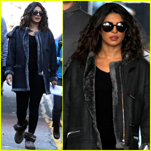 Priyanka Chopra Braves the Cold on 'Quantico' Set in NYC