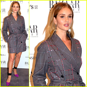 Rosie Huntington-Whiteley Looks Chic at Harper's Bazaar Power List of 150 Visionary Women Event