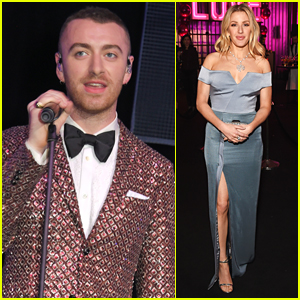 Sam Smith & Ellie Goulding Attend Elton John's AIDS Foundation Dinner