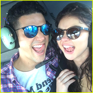 Sarah Hyland Gets a Helicopter Ride as Birthday Present from Wells Adams!