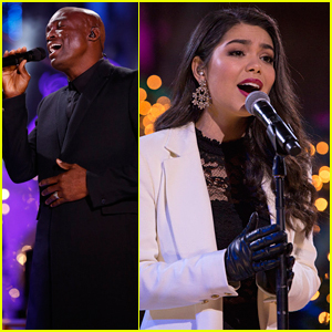 Seal & Auli'i Cravalho Help Light The Rockefeller Center Christmas Tree in NYC!