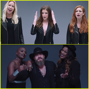 The pitch perfect 3 cast teams up with the voice contestants for the pitch perfect 3 cast teams up with the voice contestants for a cups freedom 90 mashup watch voltagebd Choice Image