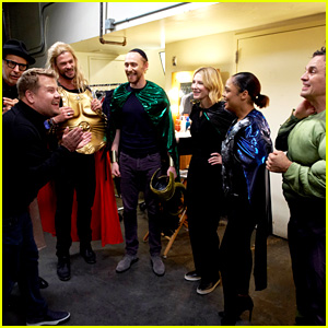 'Thor: Ragnarok' Cast Performs Live Version of the Movie for James Corden! (Video)