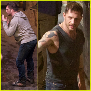 Tom Hardy Films Late Night 'Venom' Scene in Atlanta
