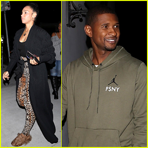 Usher & Wife Grace Miguel Couple Up for Vegan Dinner Date