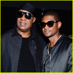 Usher Gets Stevie Wonder's Support at 'People You May Know' Premiere