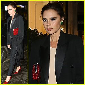 Victoria Beckham Channels Dorothy in Dazzling Ruby Pumps