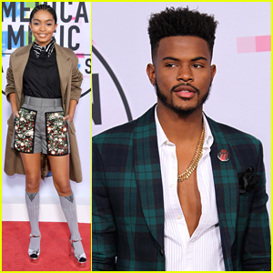 'Grown-ish' Stars Yara Shahidi & Trevor Jackson Step Out at AMAs 2017