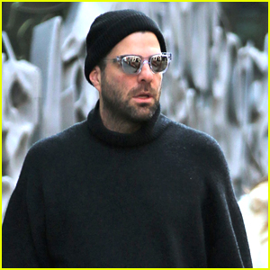 Zachary Quinto Takes His Dog for a Walk in NYC