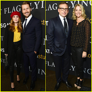 Zoey Deutch & Glen Powell Buddy Up at 'Last Flag Flying' Premiere - Watch Trailer!