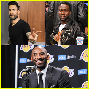 Adam Levine, Kevin Hart & More Support Kobe Bryant at Jersey Retirement Ceremony!