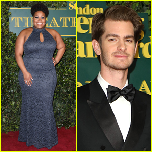 Amber Riley & Andrew Garfield Arrive for Big Night at London Evening Standard Awards