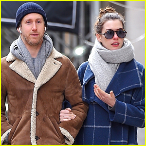 Anne Hathaway & Husband Adam Shulman Bundle Up in NYC
