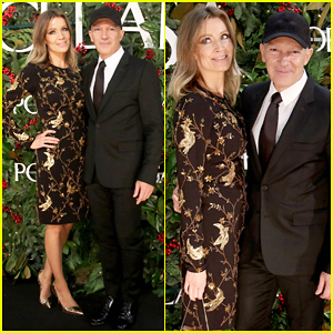 Antonio Banderas & Girlfriend Nicole Kimpel Couple Up at Porcelanosa Opening!