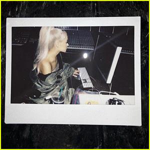 Ariana Grande Confirms She's Recording New Music - See the Studio Pics!