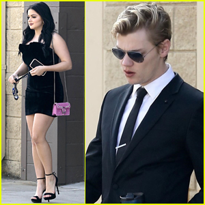 Ariel Winter Goes Sexy in Little, Black Dress While Out with Boyfriend Levi Meaden