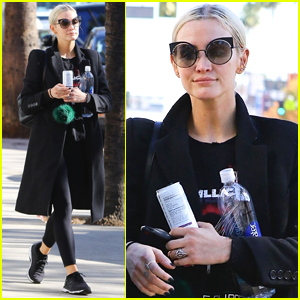 Ashlee Simpson Starts Off Her Morning with a Workout