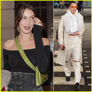 Bella Hadid Steps Out for Dinner with Friends in London
