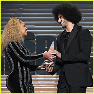 Beyonce Presents Legacy Award to Colin Kaepernick, Thanks Him for His Sacrifice