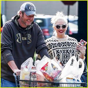 Blake Shelton & Gwen Stefani Go Shopping for the Holidays!
