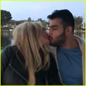 Britney Spears & Boyfriend Sam Asghari Kiss & Dance in Adorable Christmas Video!