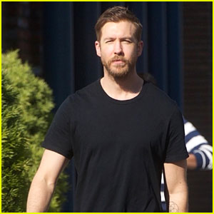 Calvin Harris Shows Off His Growing Beard in Beverly Hills