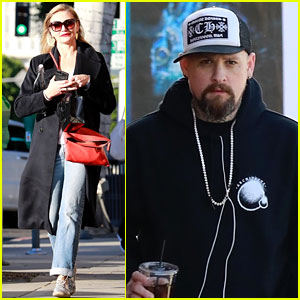 Cameron Diaz & Husband Benji Madden Get Their Christmas Shopping Done