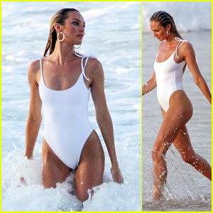 Candice Swanepoel Stuns at the Beach After Announcing Her Pregnancy!