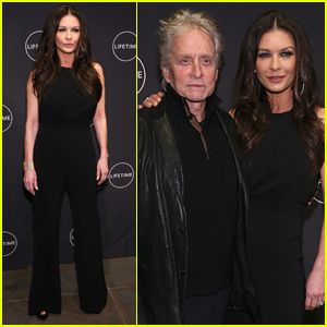 Catherine Zeta-Jones is Supported by Michael Douglas at 'Cocaine Godmother' Premiere