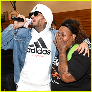 Chris Brown Surprises a Teacher in Atlanta, Donates $50,000 to Her School!