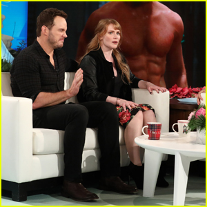 Chris Pratt & Bryce Dallas Howard Tease 'Jurassic World' on 'Ellen' - Watch Here!