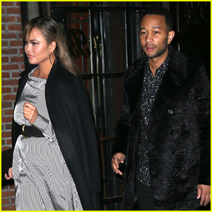 Pregnant Chrissy Teigen & John Legend Hit the Town Together in NYC!