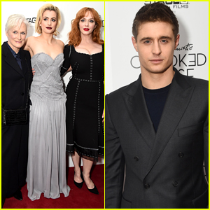 Christina Hendricks Joins Glenn Close & Max Irons at 'Crooked House' Premiere in NYC