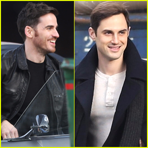 Colin O'Donoghue & Andrew J West Film 'OUAT' in Vancouver