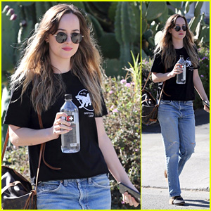 Dakota Johnson Flashes a Smile While Stepping Out to Run Errands in Hollywood!